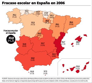 Mapa fracaso escolar curso 2005-2006