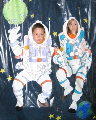 Astronaut backdrop for VBS photo booth space futuristic